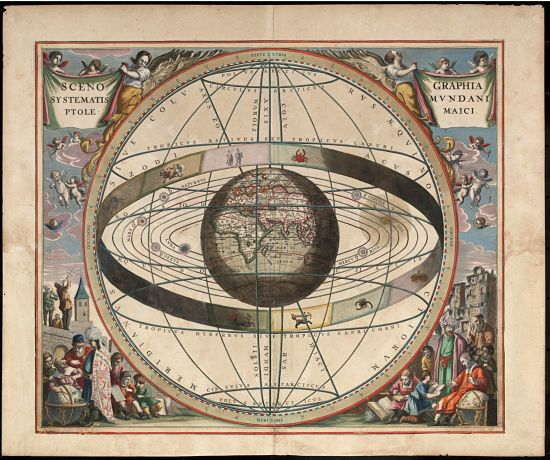 A Brief History of Real World Magic-Scenography of the Ptolemaic Cosmography by Loon, J. van (Johannes), ca. 1611–1686. Public Domain through Wikipedia Commons